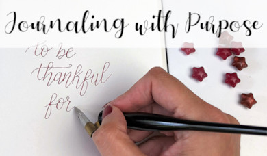 Journaling with Purpose - World Calligraphy Day 2018