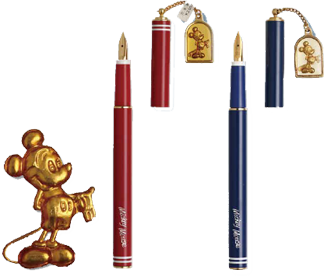 Mickey Mouse fountain pens, made dor Disney by Platinum