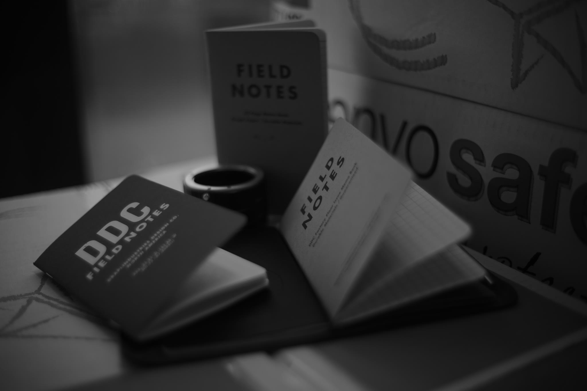 Field Notes set, black and white