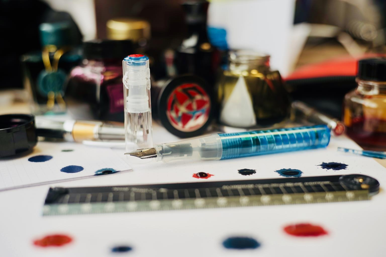 TWSBI GO Fountain Pen with Lots of Inks