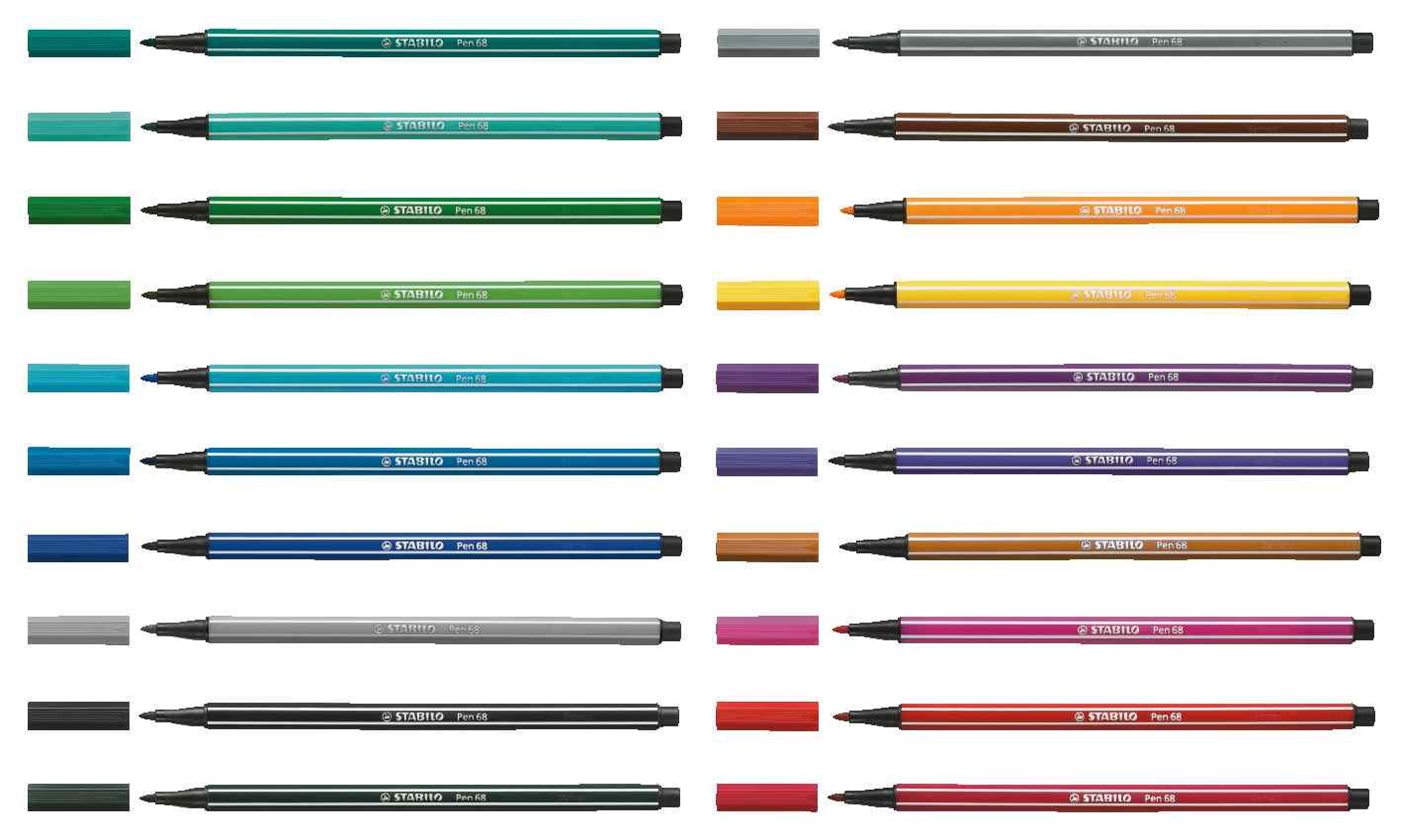 Pen 68 in all colours