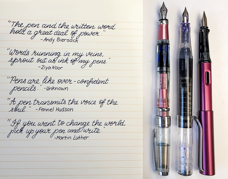 The Joy of Fountain Pens