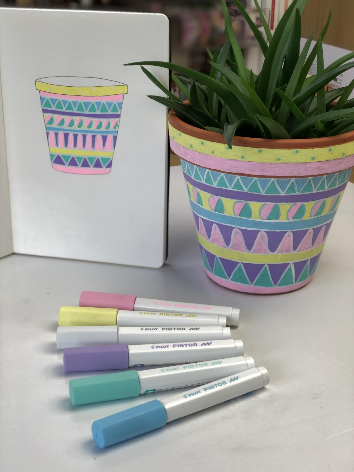 Pilot Pintor Markers - used to decorate a plant pot