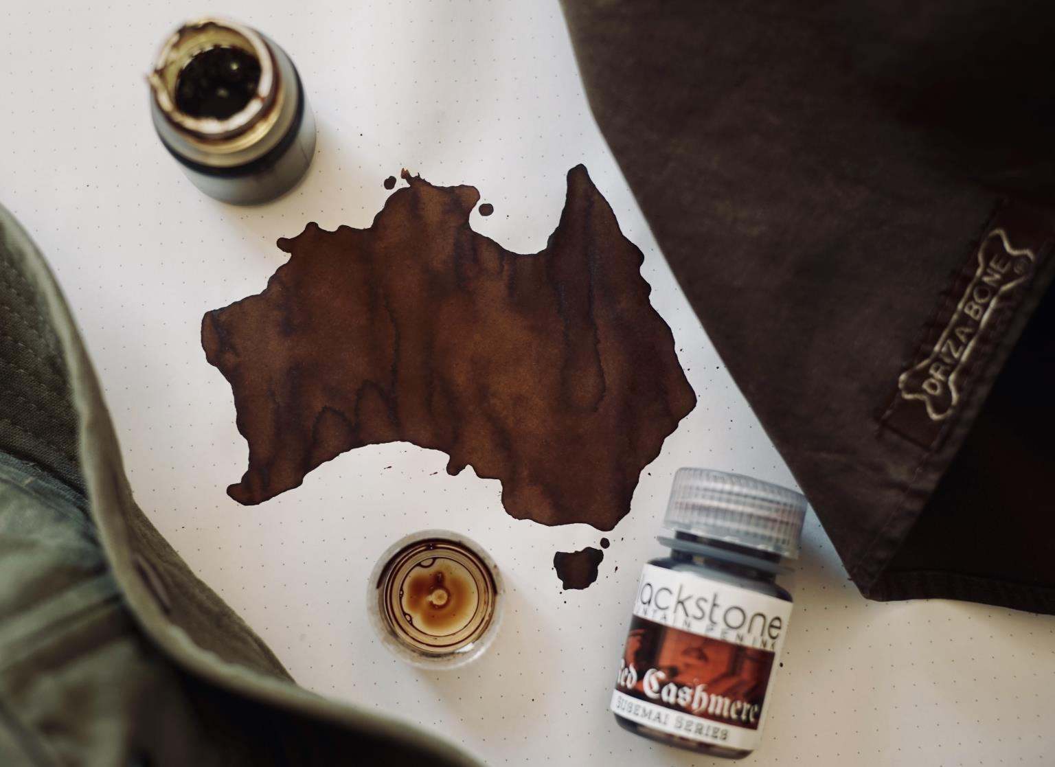 Map of Australia, drawn using Blackstone Ink