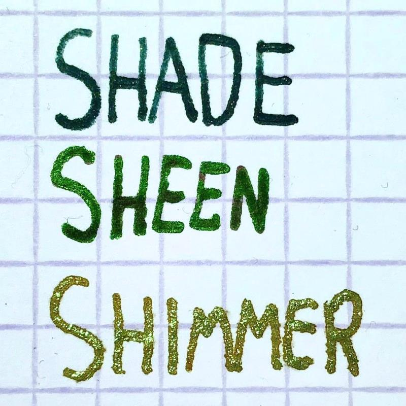 Shade, sheen and shimmer - comparison of the three