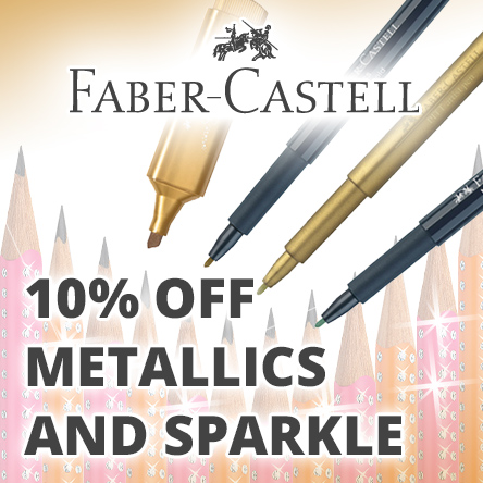 10% off selected Faber-Castell Metallics and Sparkle