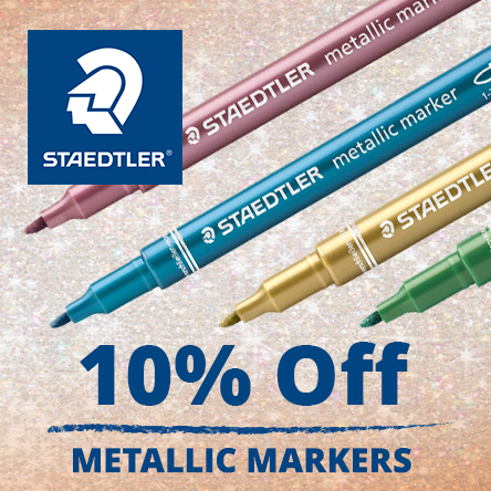 10% off selected Staedtler Metallic marker pens