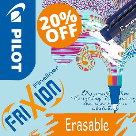20% off Pilot Frixion Fineliners