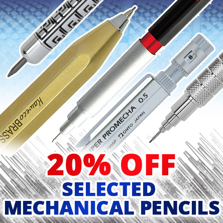 20% off selected mechanical pencils
