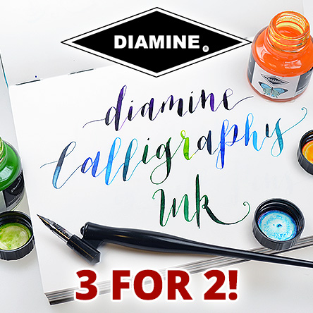 3 for 2 on Diamine Calligraphy Inks