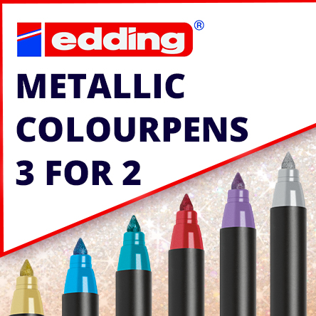 3 for 2 on edding 1200 Metallic Colourpen singles