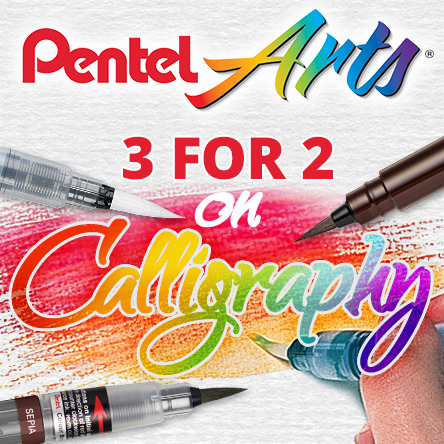 3 for 2 on selected Pentel calligraphy pens