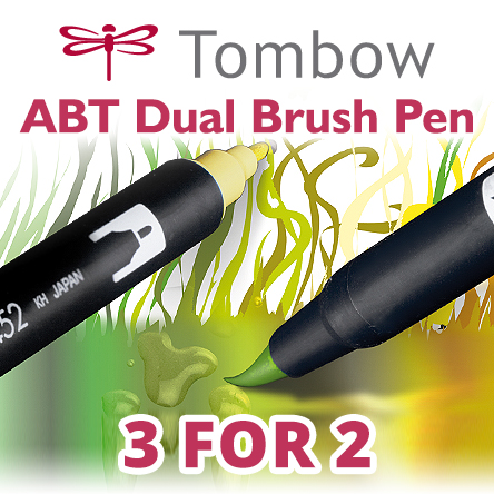 3 for 2 on selected Tombow ABT pens
