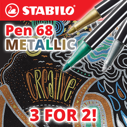 3 for 2 on STABILO Pen 68 Metallic