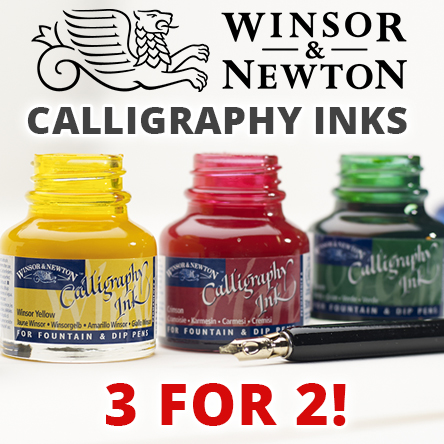 3 for 2 on Winsor & Newton Calligraphy Inks