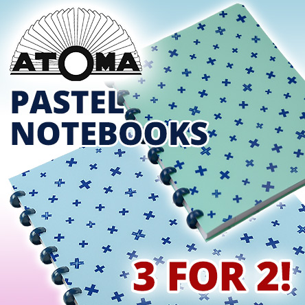Atoma Pastel Notebooks 3 for 2