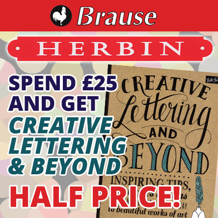 Creative Lettering half price with Brause and Herbin