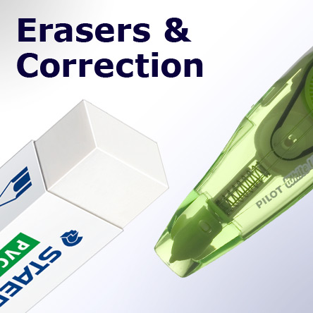 Erasers & Correction