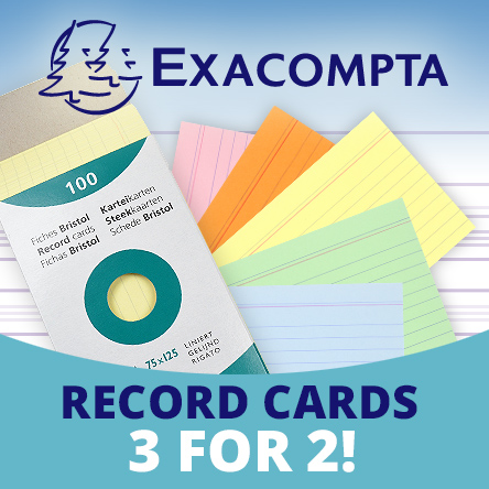 Exacompta Record Cards 3 for 2