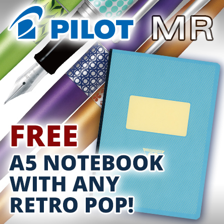 Free 1951 Notebook with any Pilot Retro Pop
