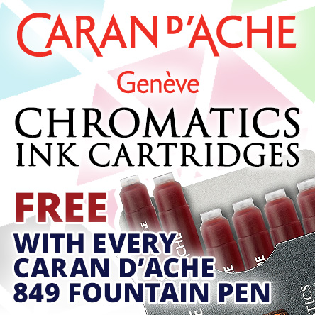 Free Chromatics cartridges with every 849 fountain pen