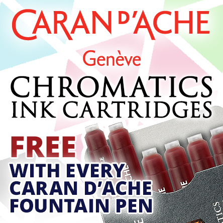 Free Chromatics ink cartridges with Caran d'Ache fountain pens