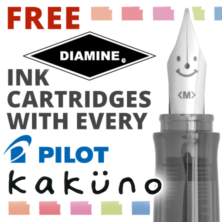 Free Diamine Ink Cartridges with Pilot Kakuno