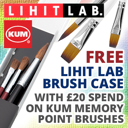 Free Lihit Lab Brush Case with £20 spend on KUM Memory Point
