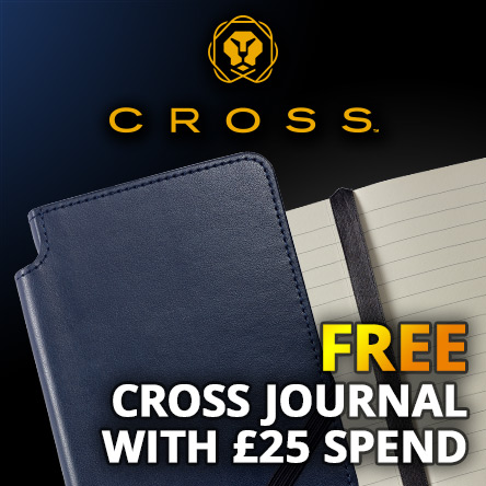 Free notebook with £25 spend on Cross
