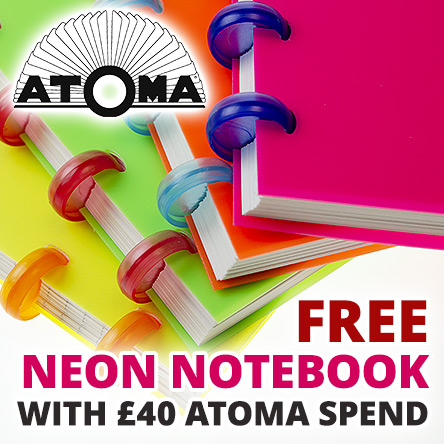 Free notebook with £40 Atoma spend