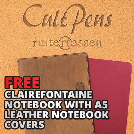 Free Notebook with Leather Ruitertassen Covers