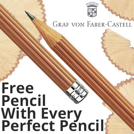 Free pencil with Graf von Faber-Castell Perfect pencils