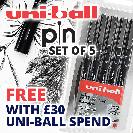 Free Pin Drawing Pens with £30 spend on Uni