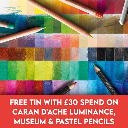 Free tin with £30 spend on selected Caran d'Ache pencils
