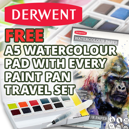 Free watercolour pad with Derwent Inktense Travel Sets