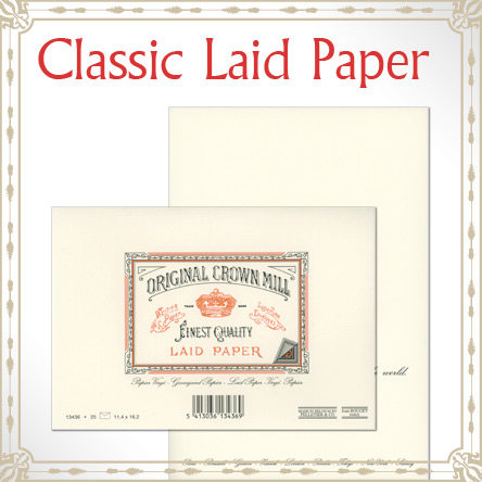 Original Crown Mill Classic Laid Paper