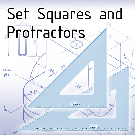 Technical Drawing Squares and Protractors