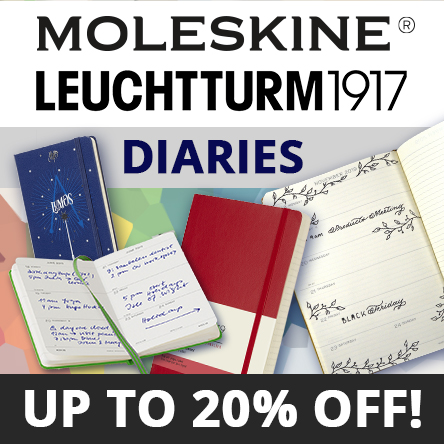 Up to 20% off Moleskine and Leuchtturm1917 Diaries