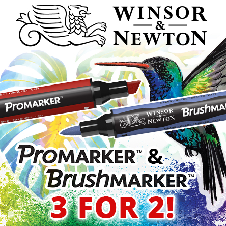 Winsor & Newton 3 for 2 and 25% off sets on selected markers