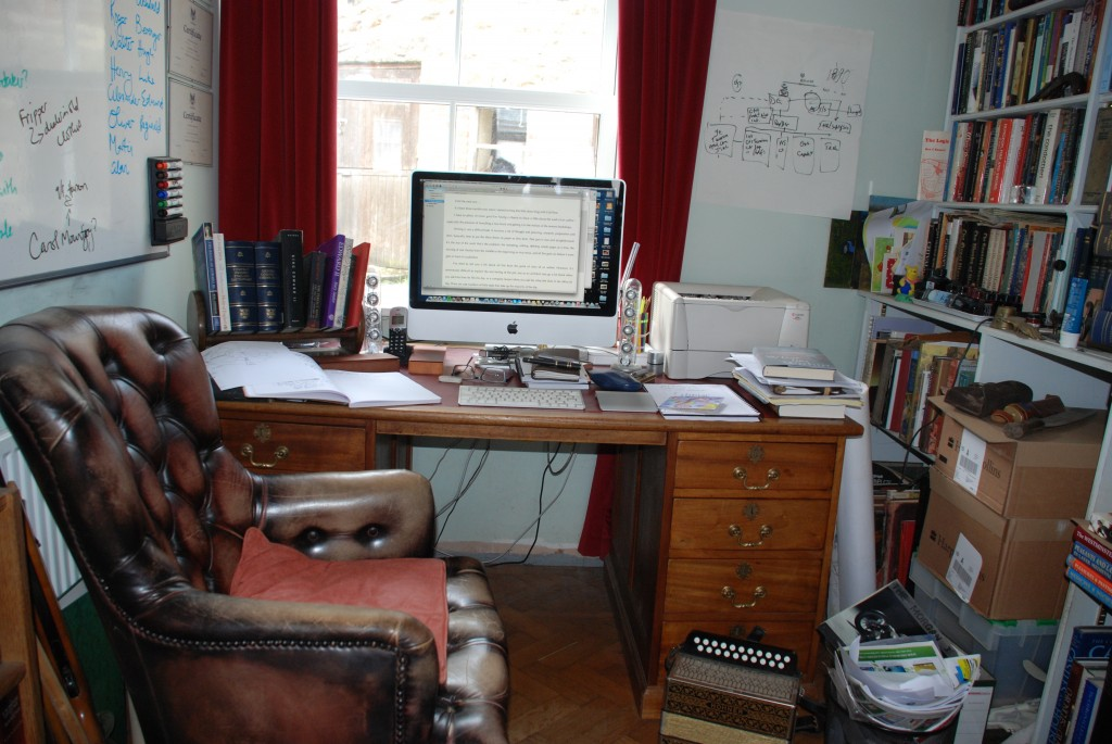 Office back to normal: back to the old desk in preparation for the new book