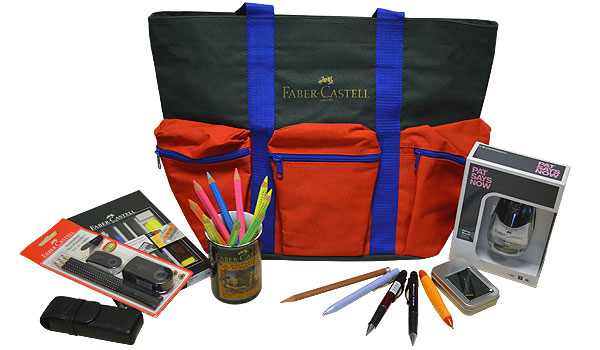 Just a small selection of the Faber-Castell goodies on offer!