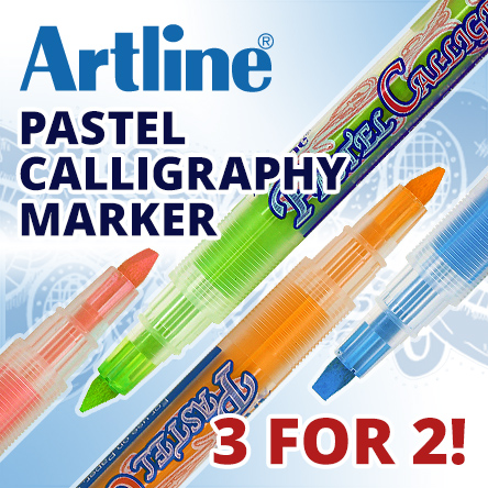 Artline Pastel Calligraphy 3 for 2