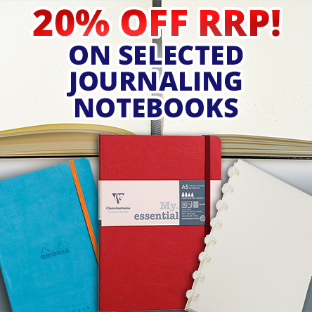 20% off journaling notebooks