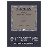 Arches Drawing Pad Cream 9x12