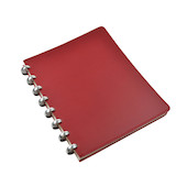 Atoma Pur Disc-Bound Refillable A5+ Notebook Red Leather