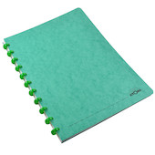 Atoma Classic Colours Card Cover Disc-Bound Refillable Notebook A4