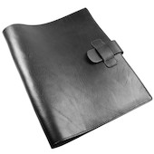 Atoma Pur Leather Folder A4 Black