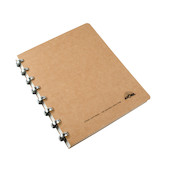 Atoma Amazing Texon Cover Disc-Bound Refillable Notebook Brown A5+