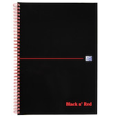 Black n' Red Card Cover Notebook Wirebound A4