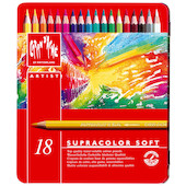 Caran d'Ache Supracolor Water Soluble Pencils Assorted Tin of 18